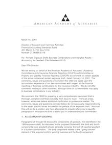 Comment letter on revised FASB exposure draft