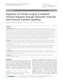 Regulation of Toll-like receptor 4-mediated immune responses through Pasteurella multocida toxin-induced G protein signalling
