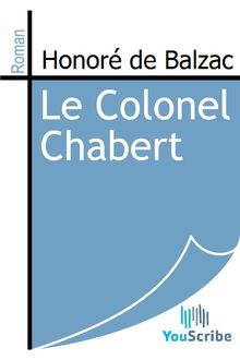 Le Colonel Chabert de Honoré de Balzac - fiche descriptive