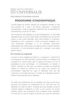 Définition et synonyme de : PROGRAMME ICONOGRAPHIQUE - ANTONELLA FENECH KROKE
