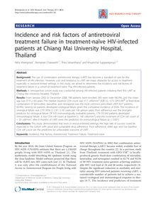Incidence and risk factors of antiretroviral treatment failure in treatment-naïve HIV-infected patients at Chiang Mai University Hospital, Thailand