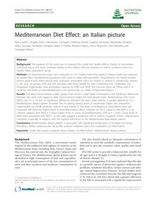 Mediterranean Diet Effect: an Italian picture