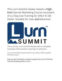 Lurn Summit Review