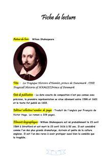 Hamlet : fiche de lecture