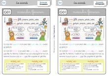 Orthographe / Grammaire / Vocabulaire CE1 – Préparations de dictées et leçons - Leçon le genre