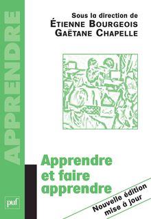 Apprendre et faire apprendre - Gaëtane Chapelle, Étienne Bourgeois