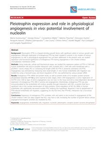 Pleiotrophin expression and role in physiological angiogenesis in vivo: potential involvement of nucleolin