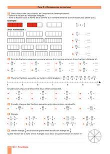 Chapitre N3 CM2 : Fractions : Décomposition de fractions
