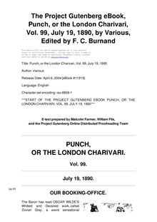 Punch, or the London Charivari, Volume 99, July 19, 1890