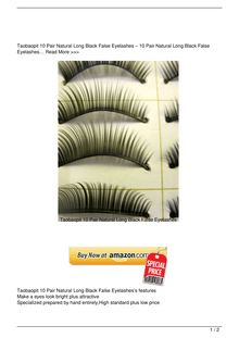 Taobaopit 10 Pair Natural Long Black False Eyelashes Beauty Review