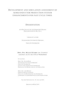 Development and simulation assessment of semiconductor production system enhancements for fast cycle times [Elektronische Ressource] / Kilian Stubbe