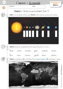 DDM CP/CE1 – L'espace : le monde - Séquence de découverte du monde Séquence Les monde_Exercices