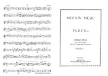 Partition No.1 en D major, 3 corde Trios, Pleyel, Ignaz par Ignaz Pleyel