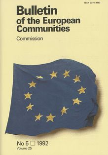 Bulletin of the European Communities. No 5 Volume 25 1992