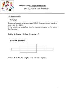 Préparation au rallye-maths CM1