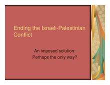 Ending the Israeli-Palestinian Conflict