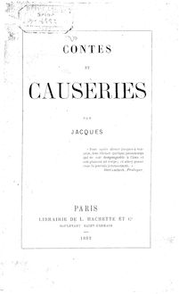 Contes et causeries, par Jacques [Demogeot]