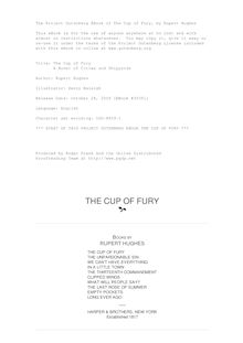 The Cup of Fury - A Novel of Cities and Shipyards