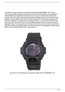 Casio Men8217s GShock Military Concept Black Digital Watch DW6900MS1CR Watch Review