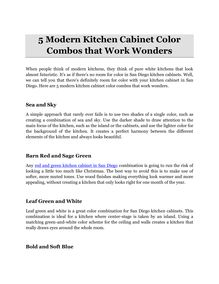 5 Modern Kitchen Cabinet Color Combos that Work Wonders