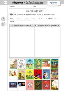 Projet BD CP/CE1 – Séquence de littérature - 3. Les exercices