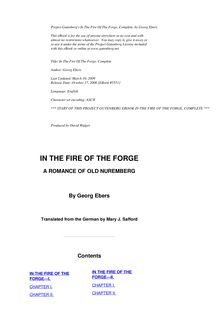 In the Fire of the Forge — Complete