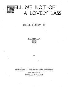Partition complète, Tell Me Not of a Lovely Lass, Forsyth, Cecil