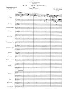 Partition Complete Orchestral Score, choral et variations, Op.74