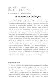Définition et synonyme de : PROGRAMME GÉNÉTIQUE - ANDRAS PALDI