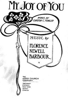Partition complète, My Joy of You, D major, Barbour, Florence Newell
