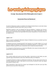 Baccalauréat Philosophie 2016 - Série S - Sujet 3