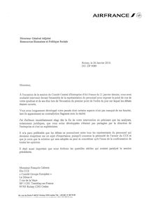 Lettre cce air france