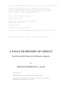 A Smaller history of Greece - From the earliest times to the Roman conquest