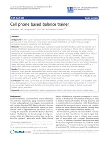 Cell phone based balance trainer