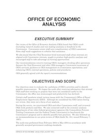 Office of Economic Analysis (PDF), Audit No. 385