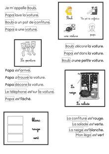 Lecture CP – Méthode Abracadalire - Pasqualine Mots de lecture Boub