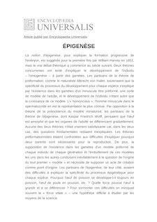 Définition de : ÉPIGENÈSE - Andras PALDI
