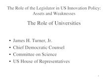 U.S. Federal Public Policies for Innovative Start-ups