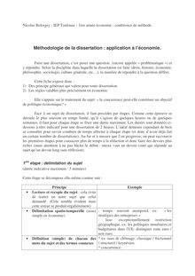 Méthodologie de la dissertation : application à l
