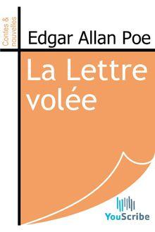 La Lettre volée de Edgar Allan Poe - fiche descriptive