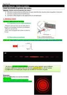 Cours sur les propriétés des ondes - physique-chimie terminale S