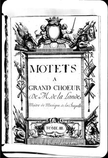 Partition Grands Motets, Tome III, Grands Motets, Cauvin collection