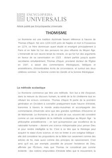 Définition et synonyme de : THOMISME - JACOB SCHMUTZ