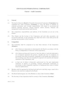 Charter - Audit Committee  version 8  Crystallex  April 16 …