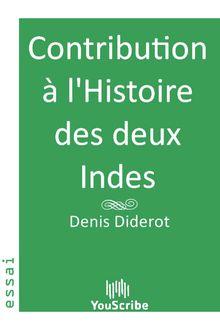 Contribution à l'Histoire des deux Indes de Denis  Diderot - fiche descriptive