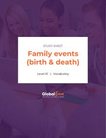 Family events (birth & death)