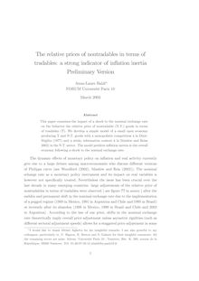 The relative prices of nontradables in terms of tradables: a strong indicator of inßation inertia