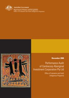 Performance Audit of Centrecorp Aboriginal Investment Corporation Pty  Ltd