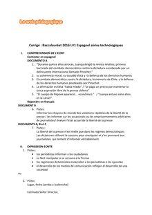 Baccalauréat LV1 Anglais 2016 - Séries technologiques