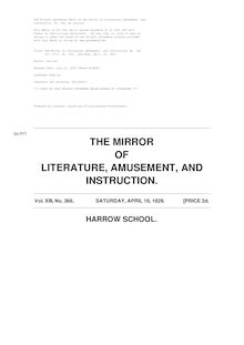 The Mirror of Literature, Amusement, and Instruction - Volume 13, No. 366, April 18, 1829
